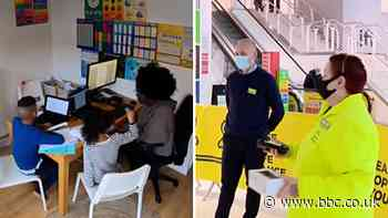 Covid: How work life changed for a home-schooler and a supermarket manager