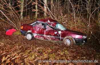 Unfall nahe Affalterbach - Betrunken gegen Baum gerast – Beifahrerin schwer verletzt - Stuttgarter Nachrichten