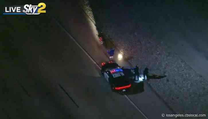 Motorcyclist Suspected Of Street Racing In Custody After Pursuit Ends In Anaheim
