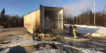 Firefighters Quickly Extinguish Tractor-Trailer Fire Near Grand Falls-Windsor - VOCM