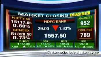 Market close: Sensex down by 379 points; Nifty ends at 15119