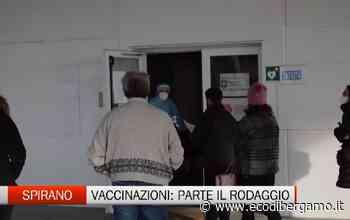 Spirano: attivato l'hub per le vaccinazioni. Oggi il rodaggio delle 11 postazioni con il personale sanitario non ancora vaccinato - L'Eco di Bergamo