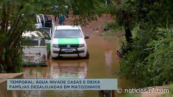 Famílias ficam desalojadas após alagamento em Matozinhos (MG) - R7.COM