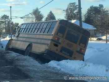 No injuries reported after school bus slides off Petawawa Boulevard - Belleville Intelligencer