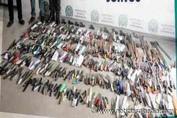 Secretaría de Gobierno incautó «cuchillera» en las calles de Funza, Cundinamarca - Noticias Día a Día