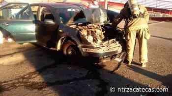 Percance vial en El Orito deja un herido - NTR Zacatecas .com