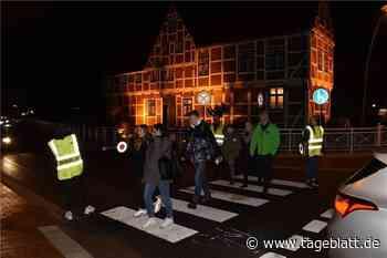 Schülerlotsen stehen am Kreisel in Jork - Jork - Tageblatt-online