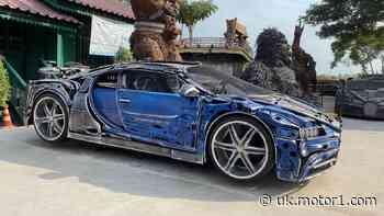 Bugatti Chiron replica made from scrap metal is automotive steampunk
