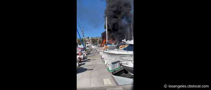 7 Boats Burn In Dana Point Harbor, Witnesses Report Hearing Explosion