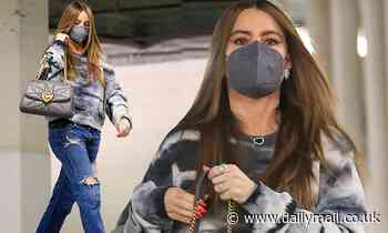 Sofia Vergara exudes casual chic comfort as she runs errands in ripped jeans and platform heels