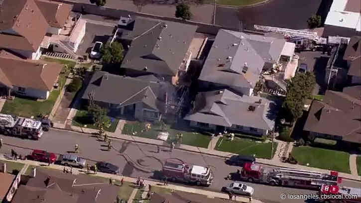At Least 1 Burned After Three-Alarm Fire Erupts In Fountain Valley Home