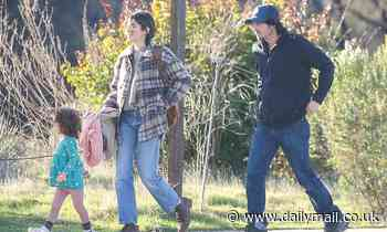 Ian Somerhalder and Nikki Reed go for a hike and grab groceries with daughter Bodhi Soleil