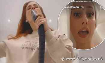 Stacey Solomon dances with vacuum after troll called her 'ugly'