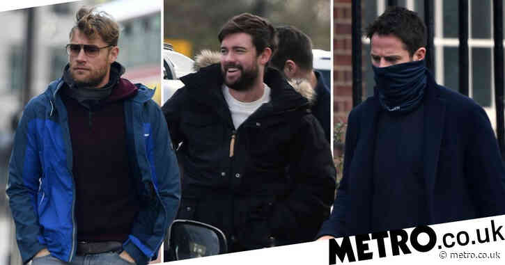 Jack Whitehall flashes grin as he reunites with Jamie Redknapp and Freddie Flintoff for A League Of Their Own's new series