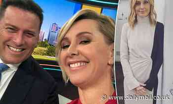 Deborah Knight poses for a selfie with Karl Stefanovic as she co-hosts Today