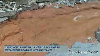 Moradores reclamam dos buracos em avenida de Esmeraldas (MG) - R7.COM