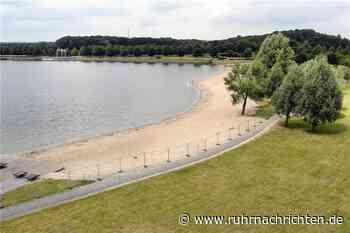 Gähnende Leere im Seepark Horstmar - Zaun um den Strand steht - Ruhr Nachrichten