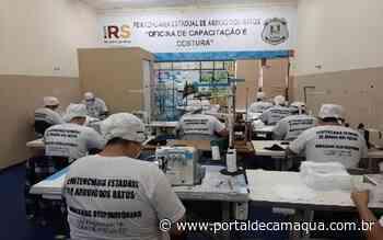 Apenados da Penitenciária de Arroio dos Ratos atingem a produção de cem mil unidades de máscaras de proteção - Portal de Camaquã