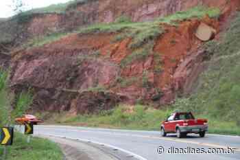Pedra solta em barranco preocupa motoristas em Mimoso do Sul » DiaaDiaES.com.br - Dia a Dia Espírito Santo