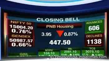 Market close: Sensex dives 435 points, Nifty settles below 15,000