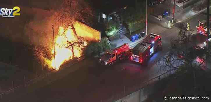 Several Small Fires Break Out Along 101 Freeway In Echo Park