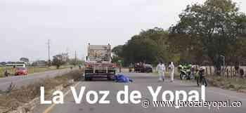 Joven fallece en accidente de tránsito registrado en la vía Morichal de Yopal - Noticias de casanare   La voz de yopal - La Voz De Yopal