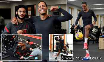 Liverpool long-term absentees van Dijk and Gomez joined by Fabinho as injured trio hit the weights