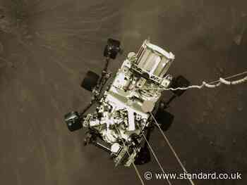 Mars landing: NASA releases new image of Perseverance rover being lowered onto Red Planet