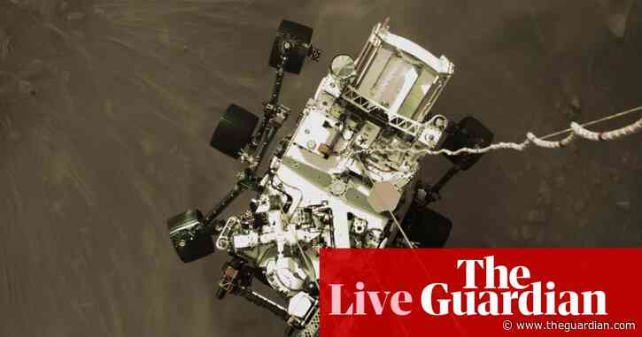 Nasa scientists release new images of Perseverance rover on Mars at news briefing – live