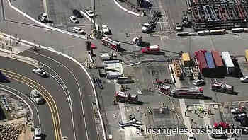 Pilot Killed After Plane Crashes Into Big Rig In San Pedro