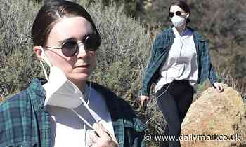 Rooney Mara steps out for a solo hike  months after welcoming son River with fiance Joaquin Phoenix
