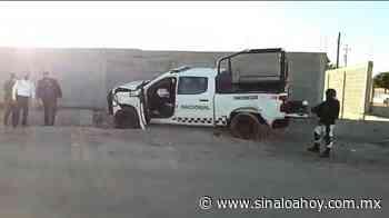 Camioneta de la Guardia Nacional protagoniza choque en Guamuchil. - Sinaloahoy