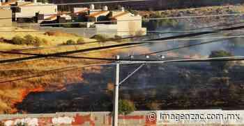 Se incendia pastizal cerca de Colinas del Padre y El Orito - Imagen de Zacatecas, el periódico de los zacatecanos