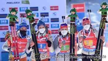 Staffel der Frauen: Preuß führt deutsche Biathletinnen zur ersten WM-Medaille