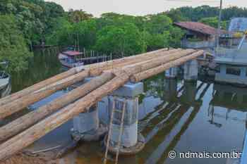 Ponte provisória sobre rio Itajuba, em Barra Velha, deve ficar pronta no sábado - ND Mais