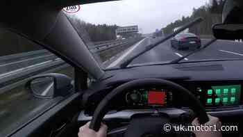 See VW Golf 8 try to keep up with Porsche Panamera on the Autobahn