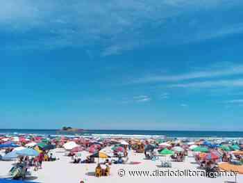 Praia de Pitangueiras fica cheia em domingo de sol no Guarujá - Diário do Litoral