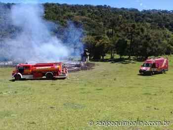 Incêndio destrói casa no interior de Bom Jardim da Serra - Agência de Notícias São Joaquim Online