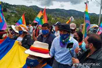 Yaku Pérez llegó hasta Azogues en su caminata con los indígenas - Diario El Norte