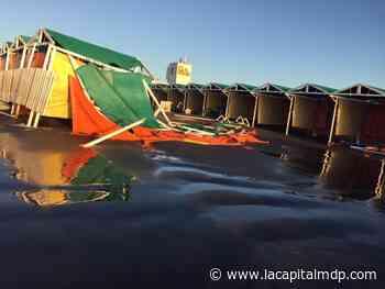 El viento y la crecida del mar provocaron destrozos en Punta Mogotes - La Capital de Mar del Plata