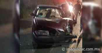 Choque en la carretera a El Orito deja un herido - Imagen de Zacatecas, el periódico de los zacatecanos