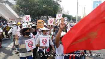 Neue Proteste in Generalstreik in Myanmar