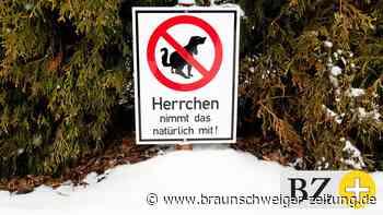 """Unterm Schnee lauern in Braunschweig """"Tretminen"""""""