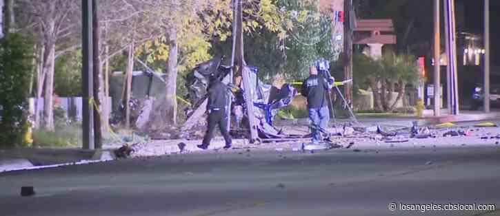 Violent Crash Into Power Pole Leaves Driver Dead In Arcadia, 2 Hurt