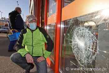 Vandalismus in Meerane: Sechs Geschäfte und Blitzer betroffen - Freie Presse