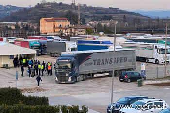 Tamponi ai camionisti punto drive-in ad Affi - TgVerona