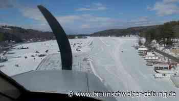 Nur im Winter: Ein See als Flugplatz