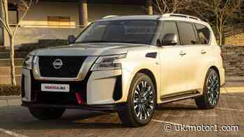 2022 Nissan Patrol Nismo facelift rendered based on spy shots