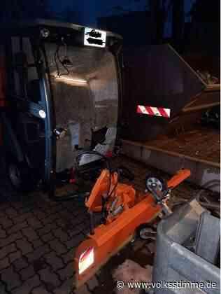Thale: Scheibe von Räumfahrzeug eingeschmissen - Volksstimme