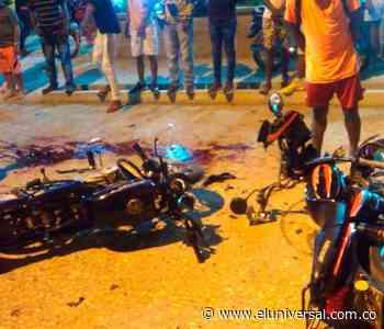 Tres accidentes de motos dejan varias personas muertas en Sucre - El Universal - Colombia